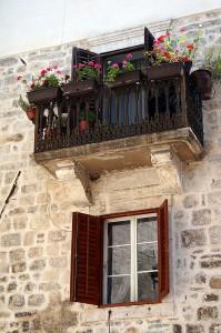 Balkon in der Altstadt von Kotor