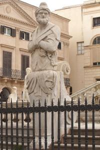Figur in der Fontana Pretoria