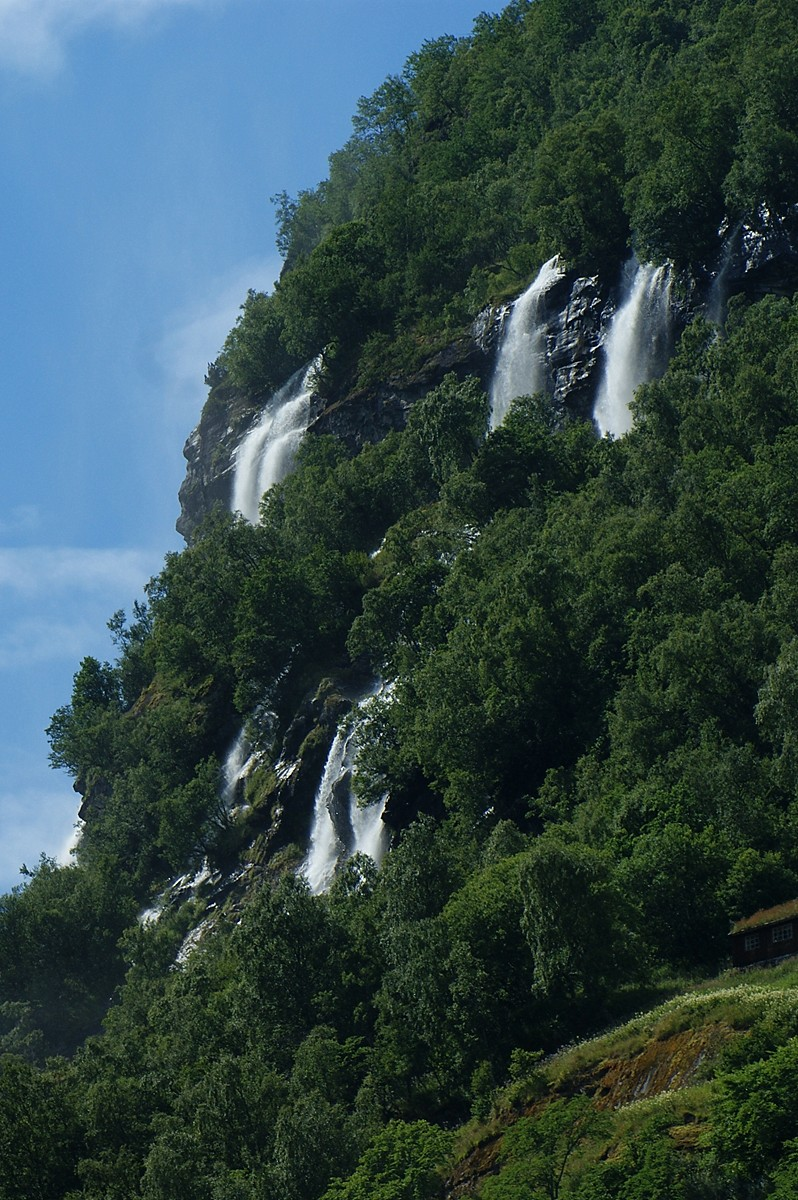 Wasserfälle im Geirangerfjord