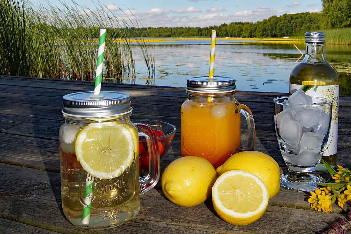 Köstliche sommerliche Limonade selber machen
