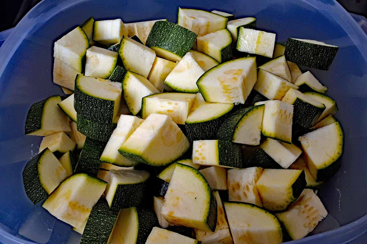 Zucchini Pfanne mit Hackfleisch Zucchiniwürfel