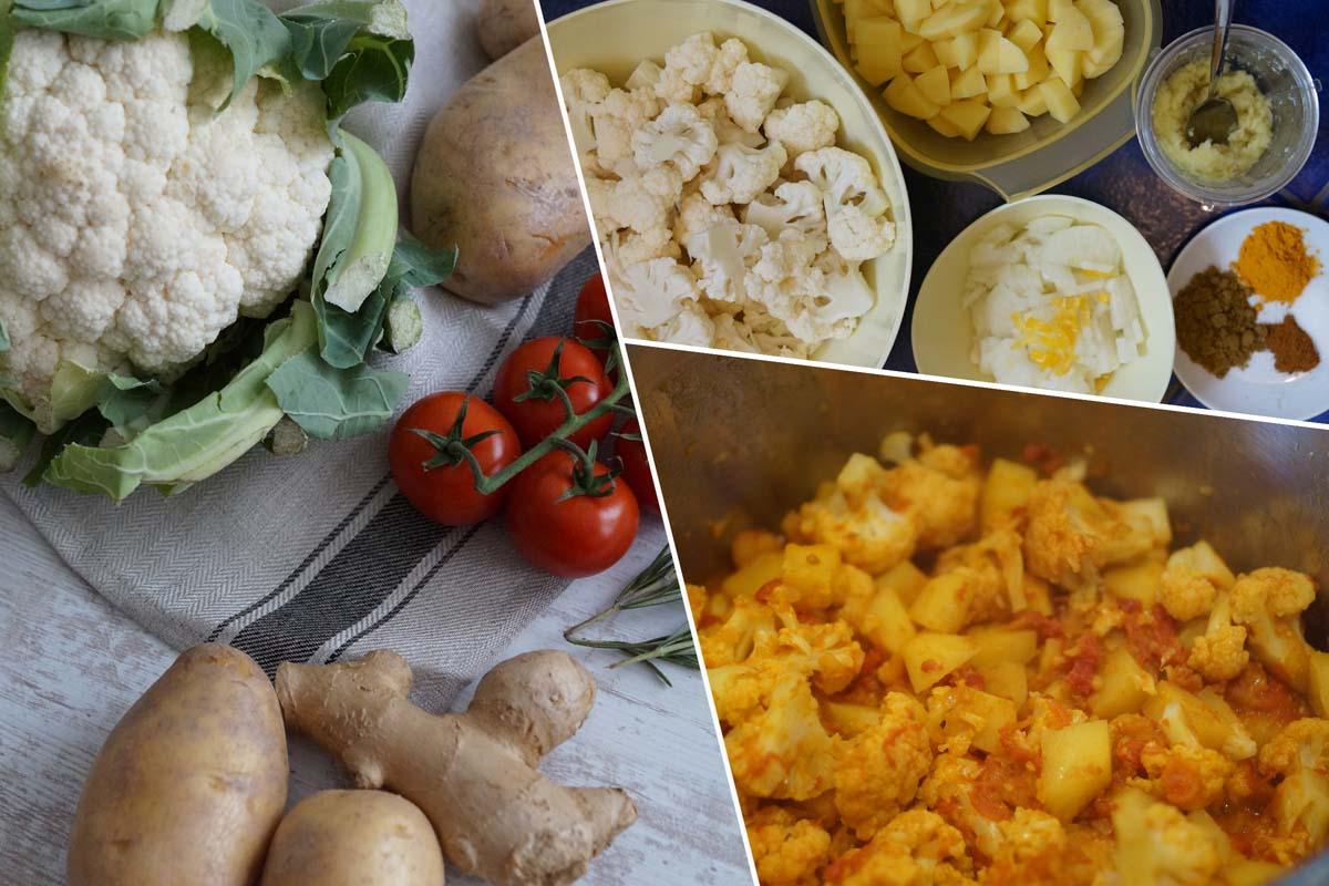 Aloo Gobi – leichtes vegetarisches indisches Gericht
