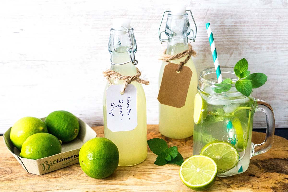Erfrischende Limetten Ingwer Limonade selber machen