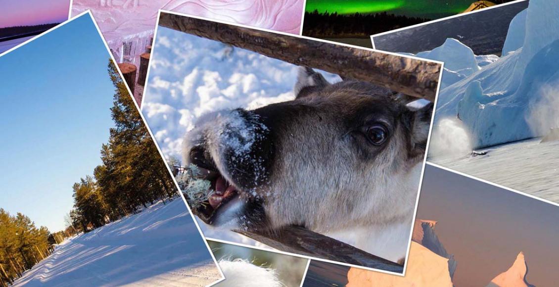 Reisefotos - über dem Polarkreis