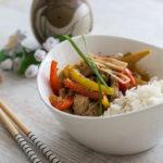 chinesisch kochen Putenfleisch mit Ingwer