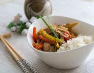 Chinesisch kochen – Putenfleisch mit Ingwer aus dem Wok
