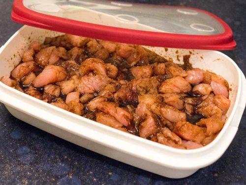 chinesisch kochen Putenfleisch mariniert