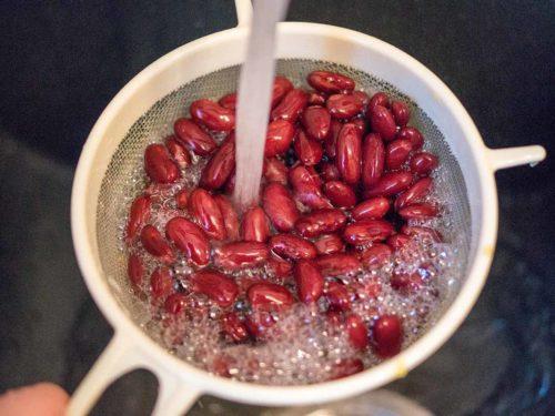 Kidneybohnen für vegetarische Gemüsepfanne