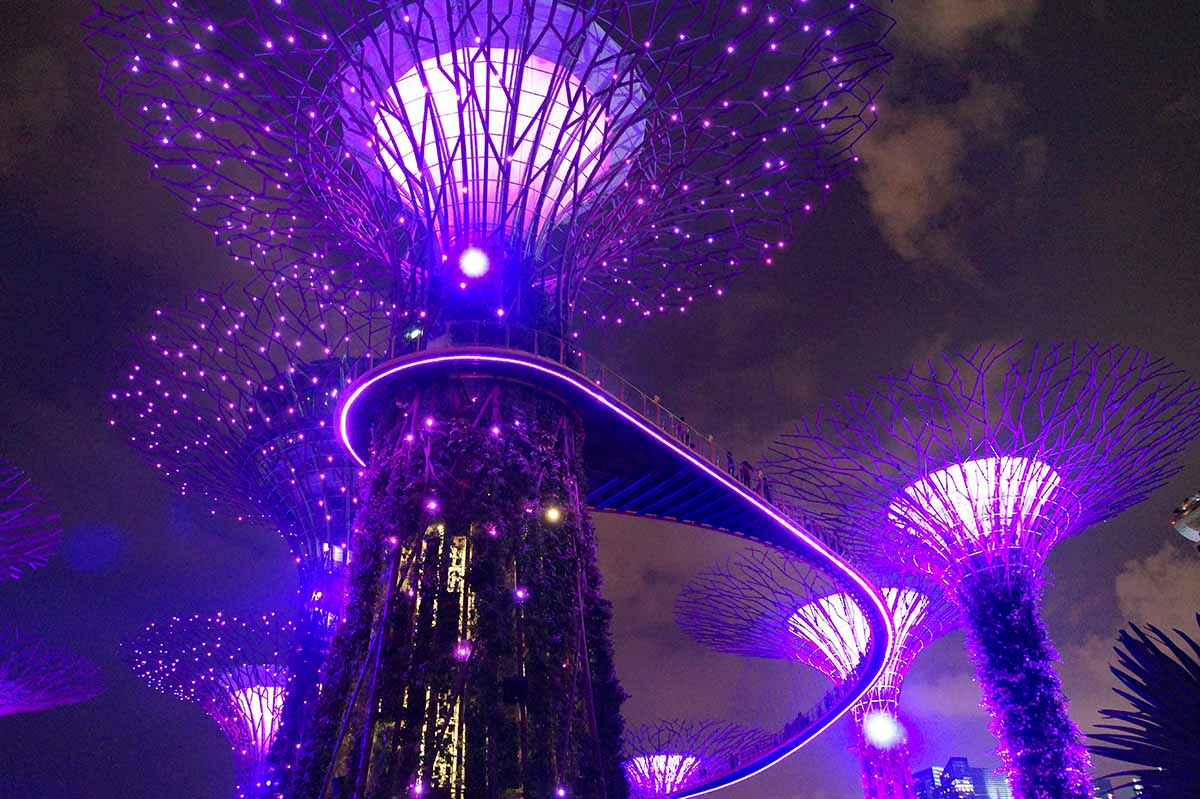 Gardens by the Bay – Nebelwald und Supertrees in Singapur