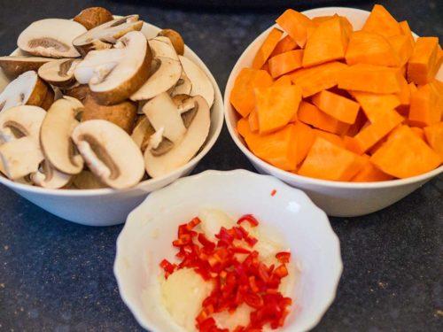 Süßkartoffelpfanne Zutaten
