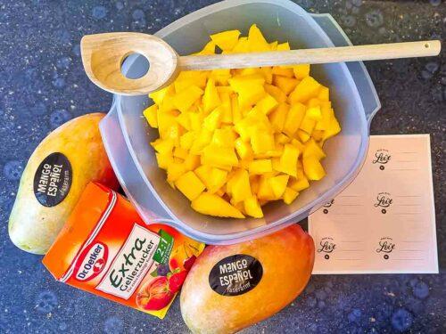 Zutaten für Mango-Marmelade