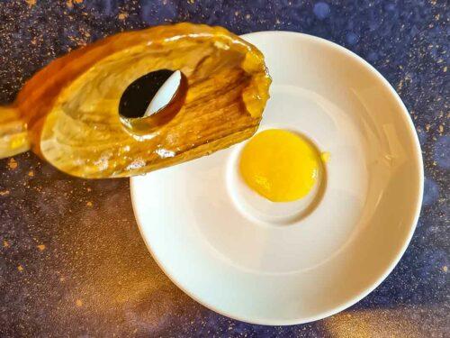 Mango-Marmelade Gelierprobe